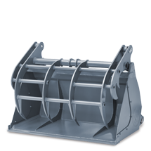 Attachment tools for Telehandlers - Grab bucket - small