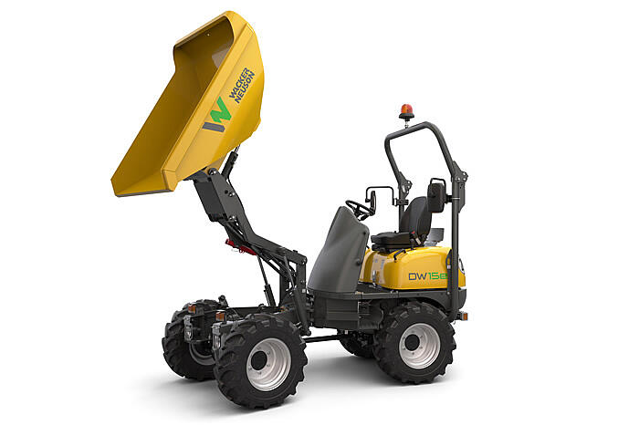Electric Wheel Dumper DW15e high tip skip