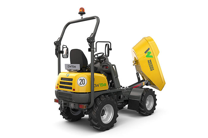 Electric Wheel Dumper DW15e swivel tip skip
