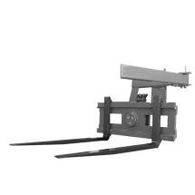 Attachment tools for Telehandlers - Pallet fork with rotating device - box rotator